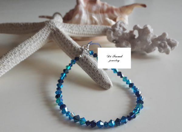Гривна Капри с кристали Сваровски в цвят Капри Блу