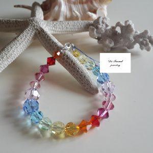 Гривна Дъга със Swarovski Crystals