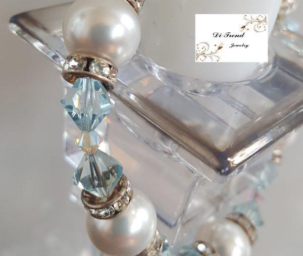 Гривна Кристал и Перли Swarovski Crystals