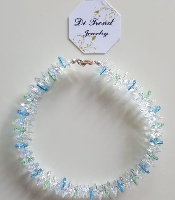 Дамска гривна Син Лазур Патент 2 с австрийски кристали