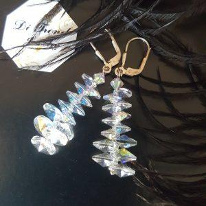 Аурора Патент обеци с кристали Сваровски
