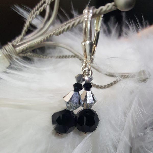 Сребърни обеци Силвър Джет 2 с кристали