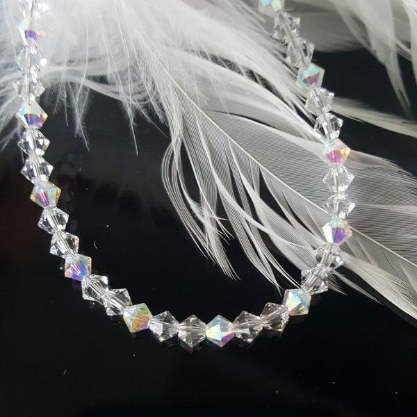 Дамска гривна Утринна роса 2 с австрийски кристали