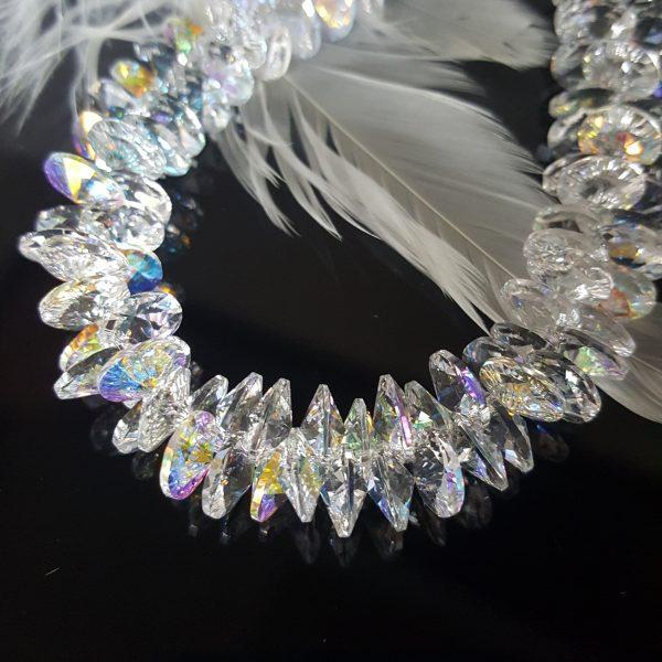 Уникална гривна с кристали Сваровски