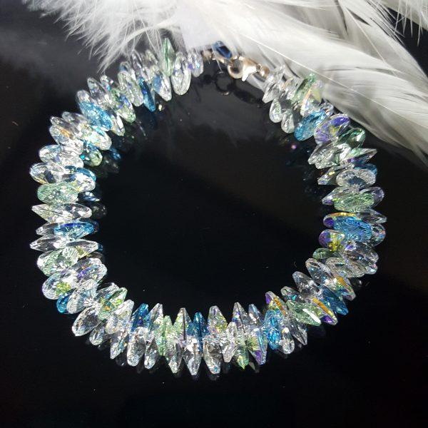 Гривна Син Лазур Патент - авторски дизайн на гривна с кристали