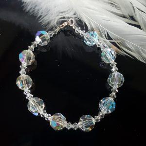 Гривна Утринна роса 3,изработена с австрийски кристали Сваровски