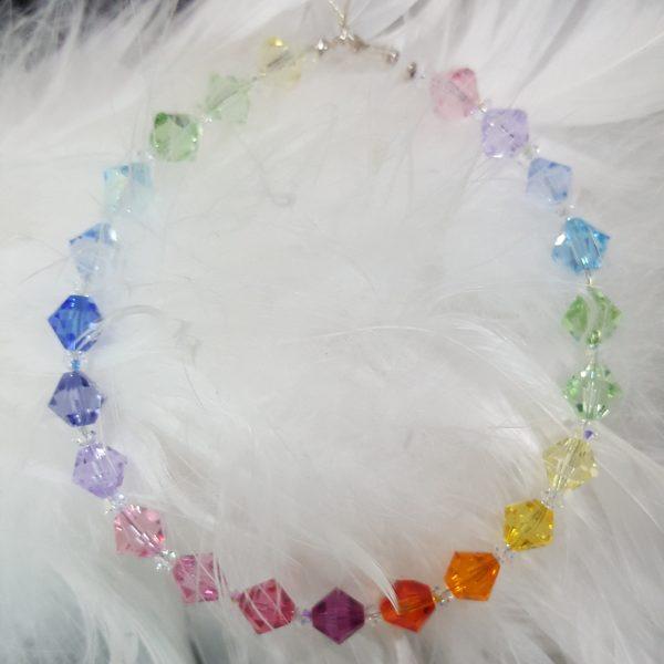 Дамска гривна Дъга 4 с кристали Сваровски