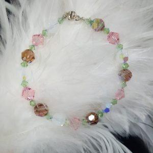 Гривна Флавия, дамска гривна с кристали, дамски гривни,