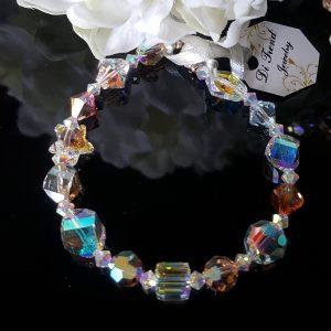 дамска гривна с австрийски кристали,дамски гривни,гривни с австрийски кристали