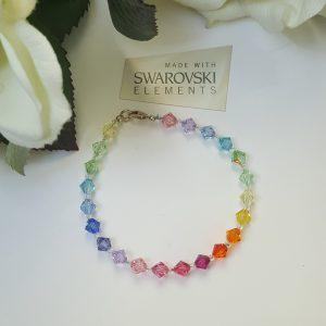 Цветна гривна Дъга 4 с кристали Сваровски
