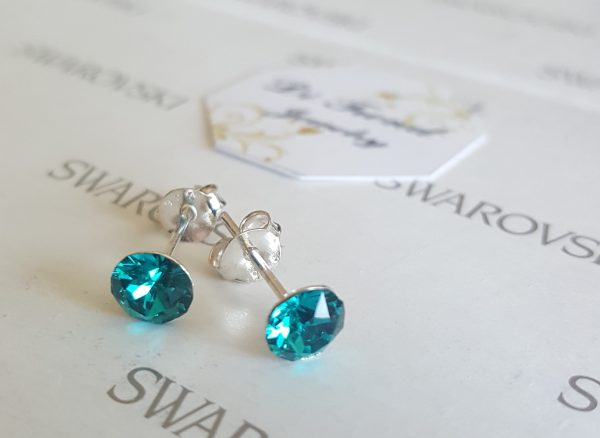 Обеци Swarovski Crystals на винт