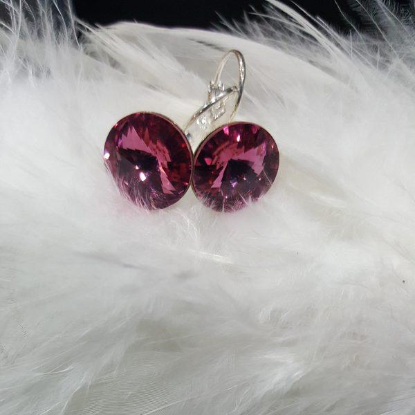 Обеци Вижън Розе - обеци с оригинални австрийски кристали