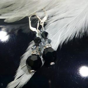 Сребърни обеци с кристали Силвър Джет 4