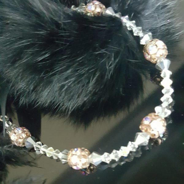 Гривна Рондела Антик, дамска гривна с оригинални австрийски кристали,