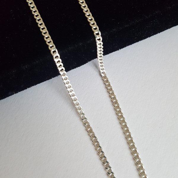 Мъжки сребърен синджир плетка тип Панцер