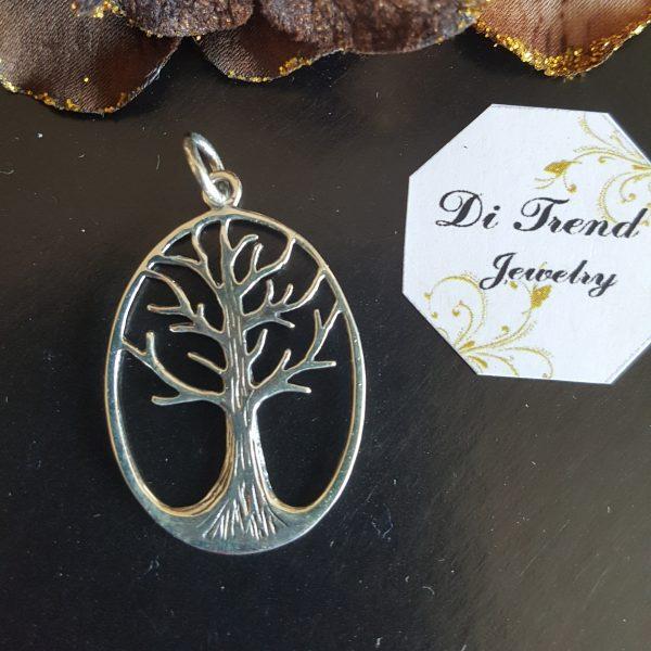 Сребърна висулка за колие Дървото на живота 2