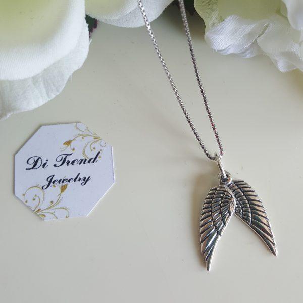 Сребърна висулка за колие Ангелски крила