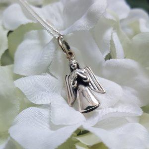 Сребърна висулка за колие Ангел - хранител