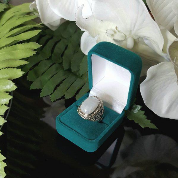 Сребърен пръстен с Лунен камък Диана