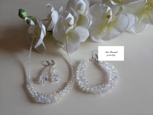 Дамски бижутериен Комплект с кристали Swarovski