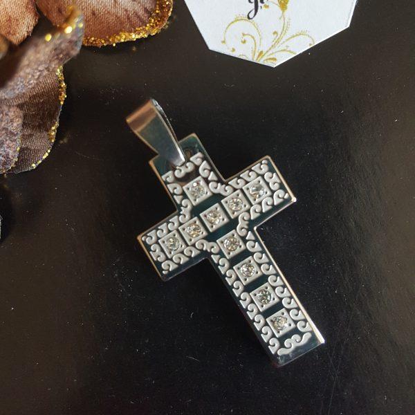Висулка за колие Кръст с кристали