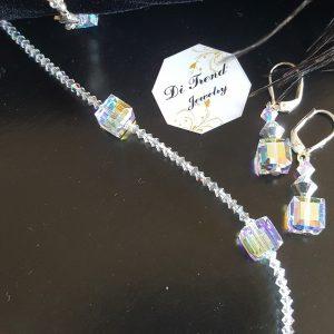 Дамски комплект с кристали Куб