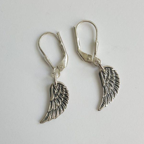 Сребърни обеци с Ангелско крило