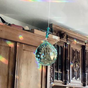 Кристал за окачване - Ball Antique Green