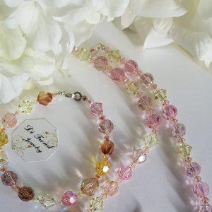 Дамски комплект с австрийски кристали Сваровски