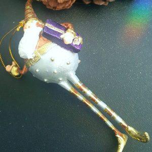 Коледна декоративна фигура Джудже с подарък