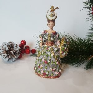 Коледна декоративна фигура Дама с чадър