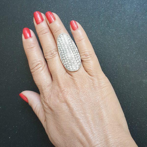 Бижута стомана масивни дамски пръстени