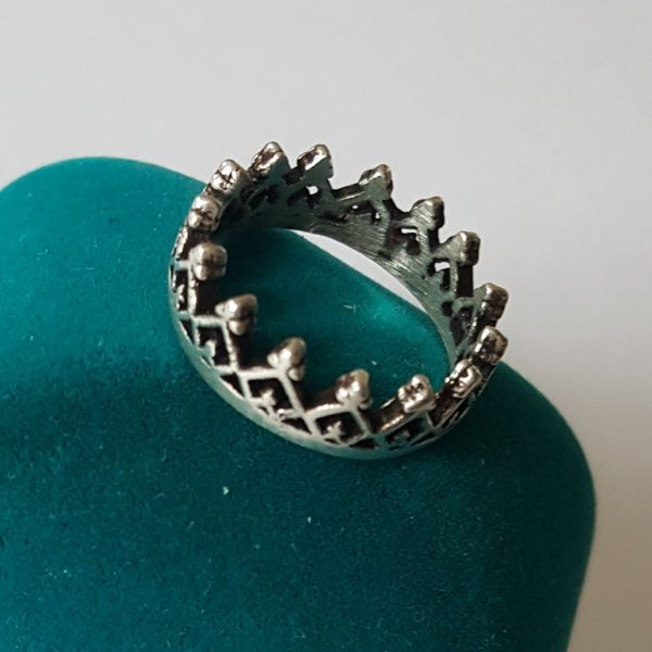 Сребърен пръстен Корона Куин