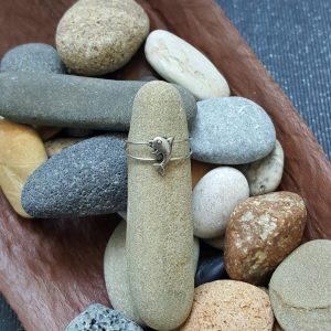 Сребърен пръстен за крак Делфин