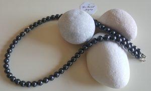 Обеци с черни перли Swarovski Crystal