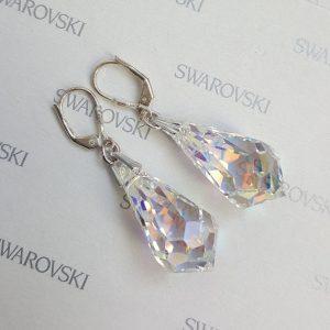 Дамски висящи обеци с кристали Swarovski