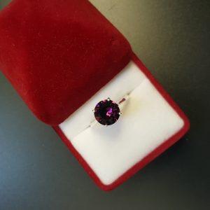 Сребърен пръстен Dolce с кристал Аметист