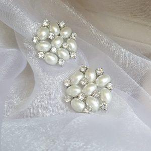 Сватбени бижута-обеци с перли