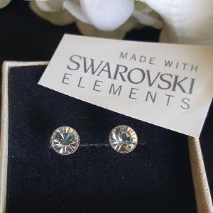 Сребърни обеци Донна Кристал с кристали Swarovski Crystals