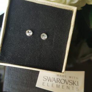 Сребърни обеци Куатро Кристал с кристали Swarovski Crystals