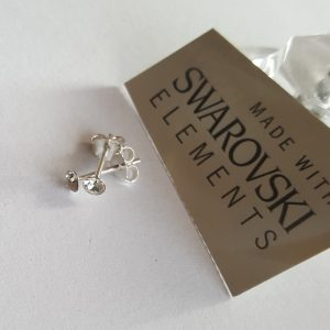 Сребърни обеци Пиколо Кристал с кристали Swarovski Crystals