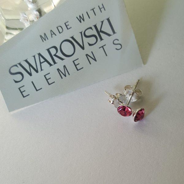 Сребърни обеци Куатро Розе с кристали Swarovski Crystals