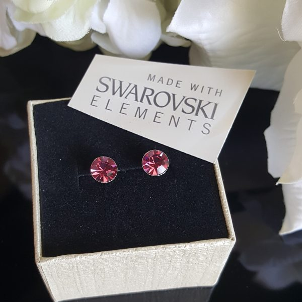 Сребърни обеци Донна Розе с кристали Swarovski Crystals