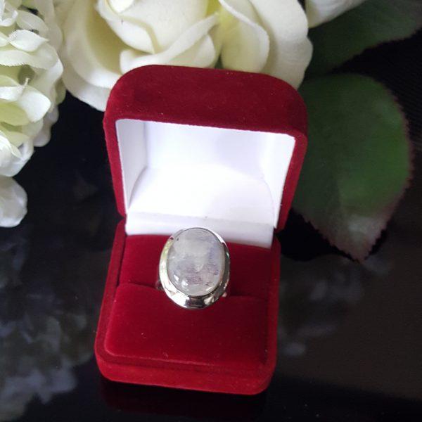 Сребърен пръстен с Лунен камък Мистик