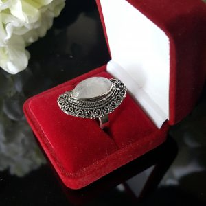 Сребърен пръстен с Лунен камък Магик