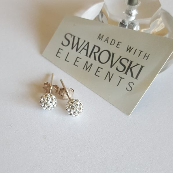 Сребърни обеци PAVE Swarovski Кристал