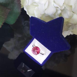 Сребърен пръстен Dolce с кристал Розе