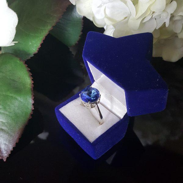 Сребърен пръстен Dolce с кристал Сапфир