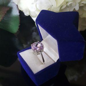 Сребърен пръстен Dolce с кристал Виолет