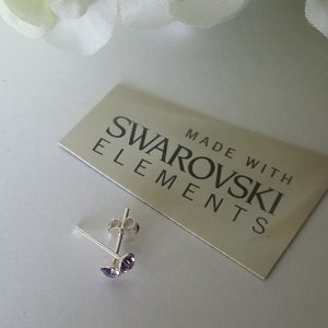 Сребърни обеци с кристал Сваровски